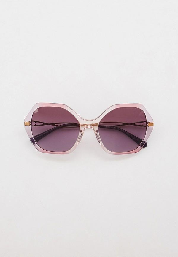 женские квадратные солнцезащитные очки coach, фиолетовые