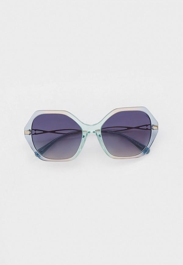 женские круглые солнцезащитные очки coach, зеленые