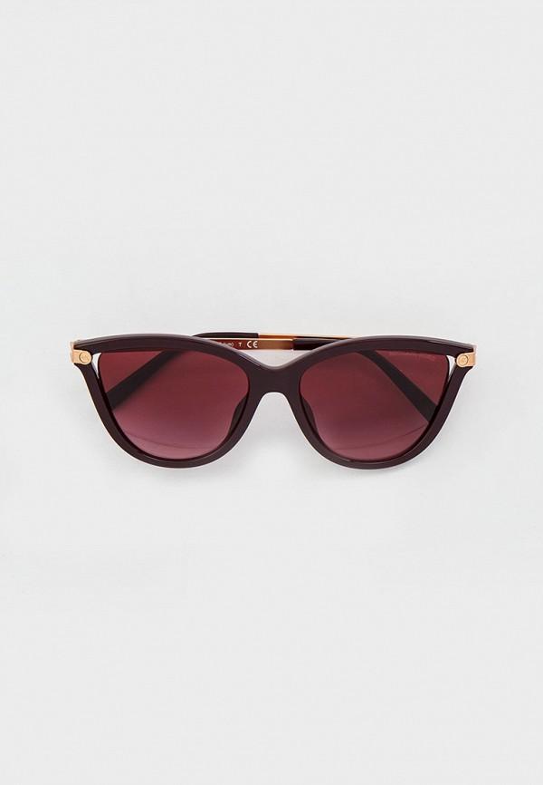 женские круглые солнцезащитные очки michael kors, бордовые