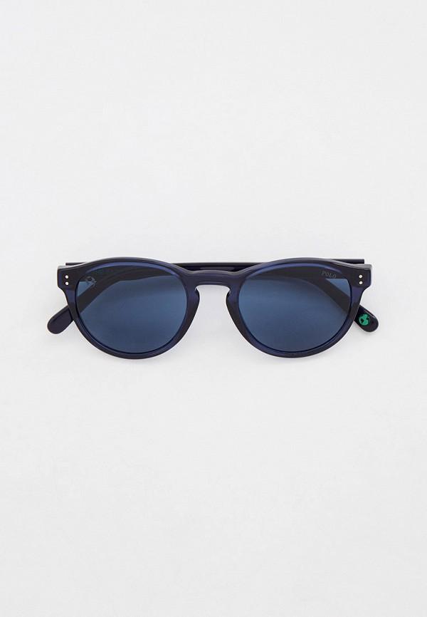 мужские круглые солнцезащитные очки polo ralph lauren, синие