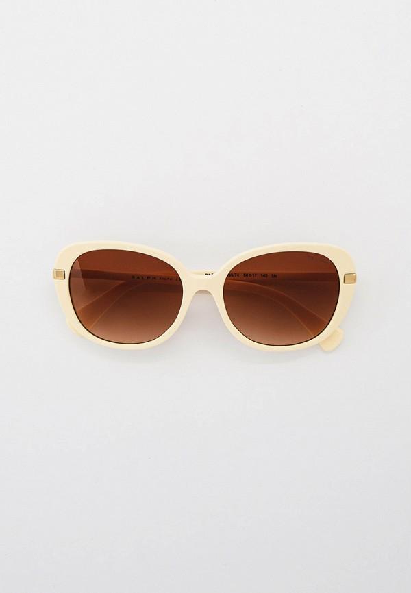 женские круглые солнцезащитные очки ralph ralph lauren, бежевые