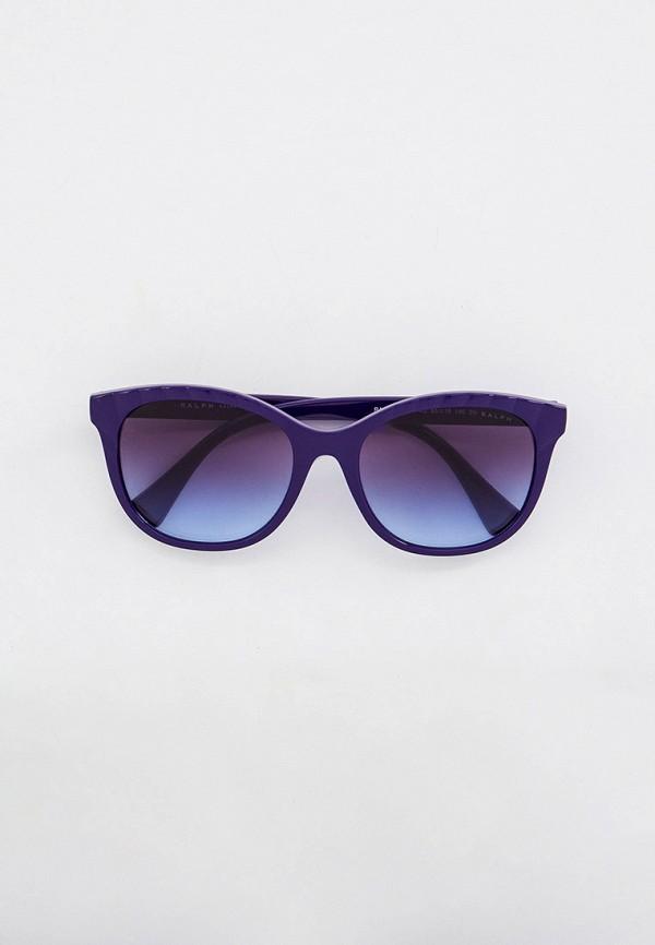 женские круглые солнцезащитные очки ralph ralph lauren, фиолетовые