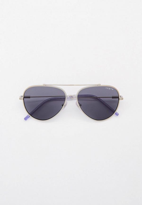 женские авиаторы солнцезащитные очки vogue® eyewear, серебряные