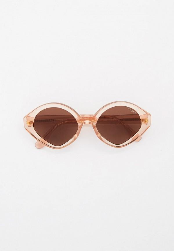 женские круглые солнцезащитные очки vogue® eyewear, бежевые