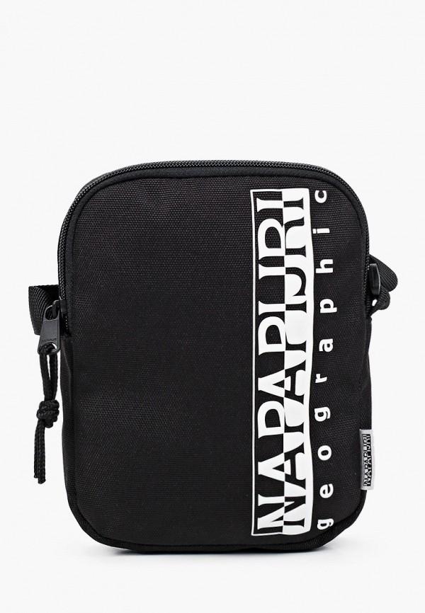 женская сумка через плечо napapijri, черная