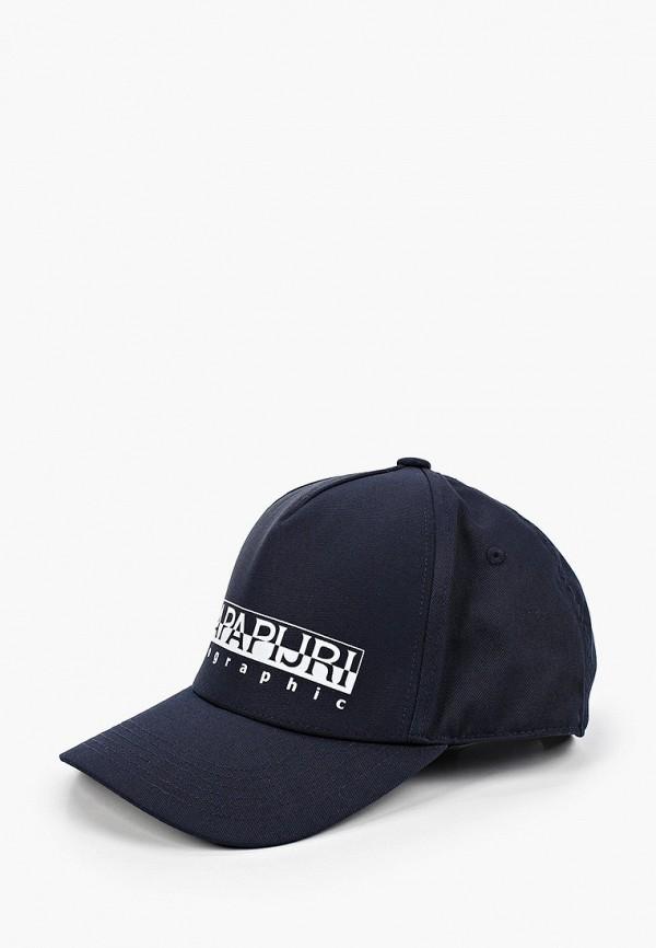 мужская бейсболка napapijri, синяя