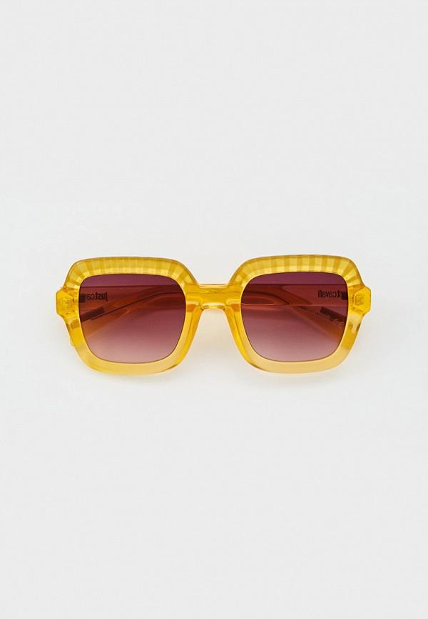 женские квадратные солнцезащитные очки just cavalli, желтые