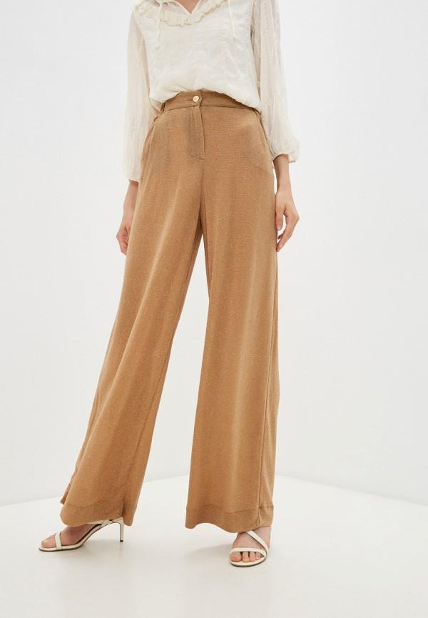 женские повседневные брюки just cavalli, золотые