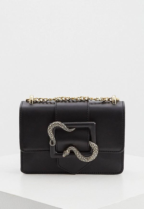 женская поясные сумка just cavalli, черная