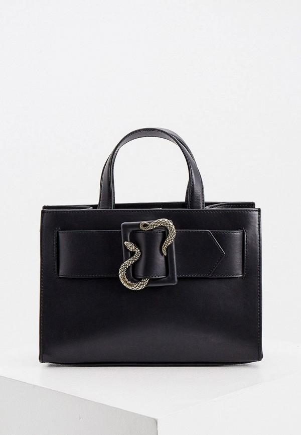 женская сумка с ручками just cavalli, черная