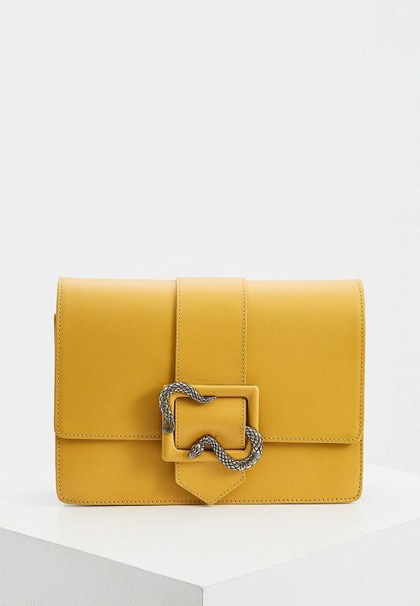 женская сумка через плечо just cavalli, желтая