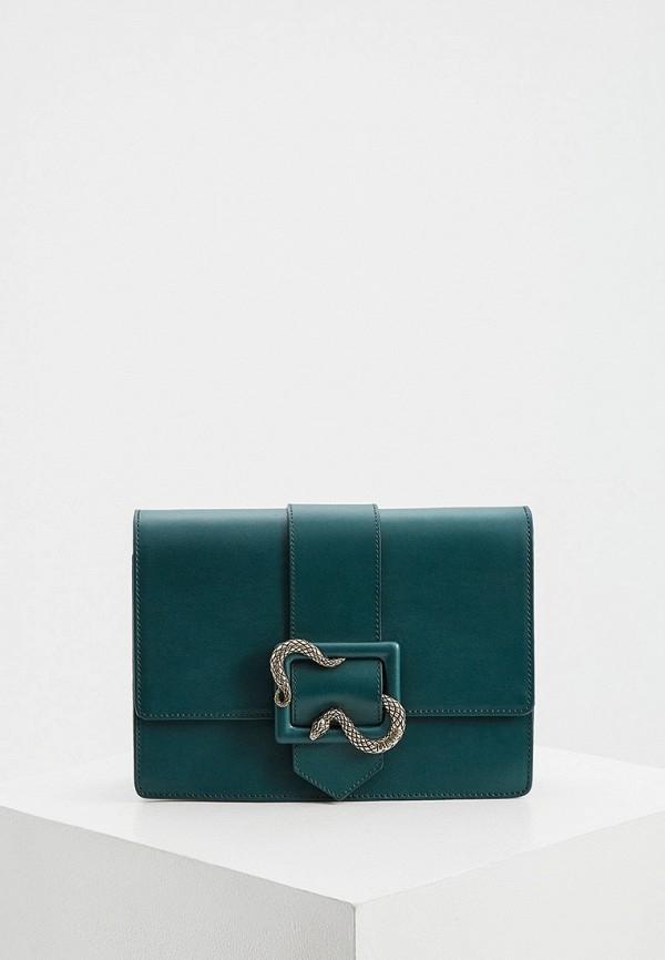 женская сумка через плечо just cavalli, бирюзовая