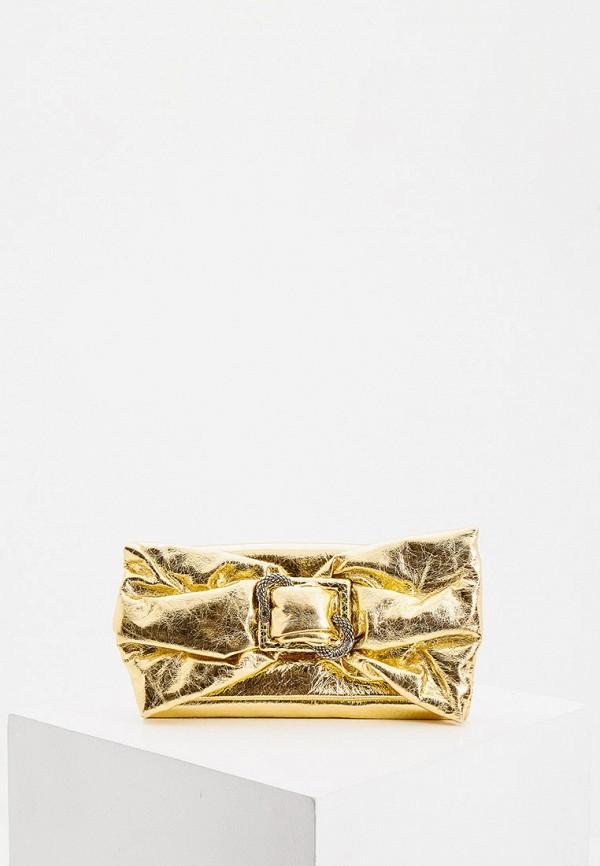женский клатч just cavalli, золотой