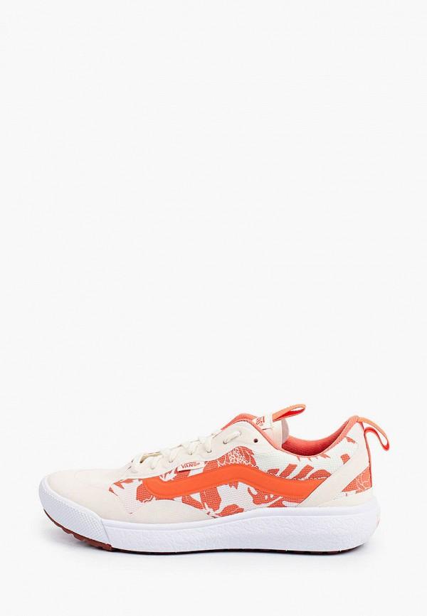 женские низкие кроссовки vans, оранжевые