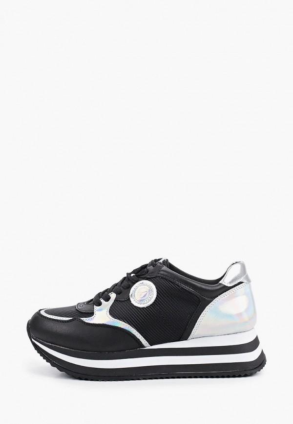 женские низкие кроссовки tamaris, черные