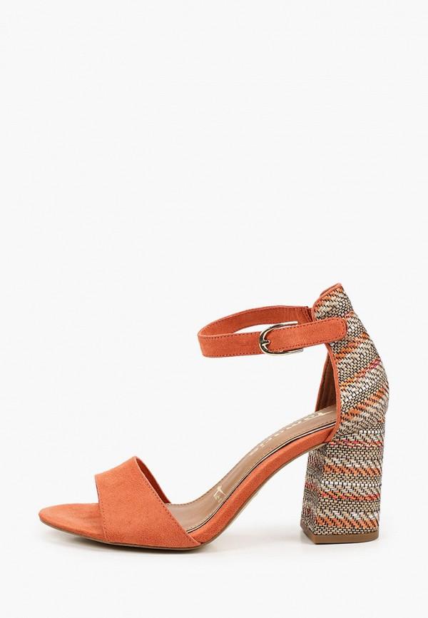 женские босоножки tamaris, оранжевые