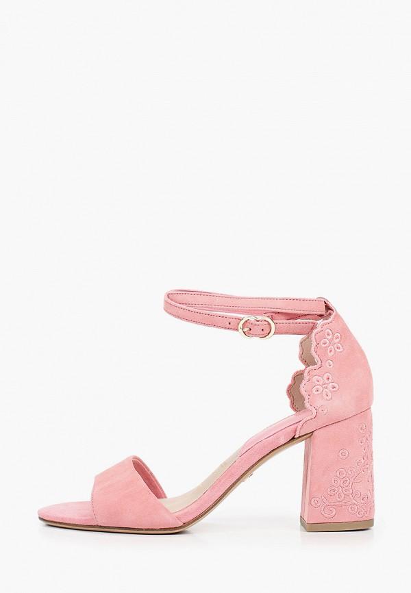 женские босоножки tamaris, розовые