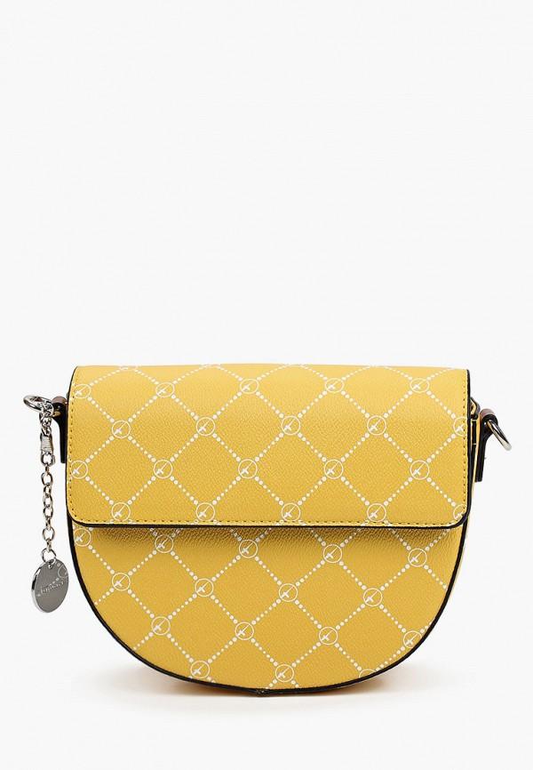 женская сумка через плечо tamaris, желтая