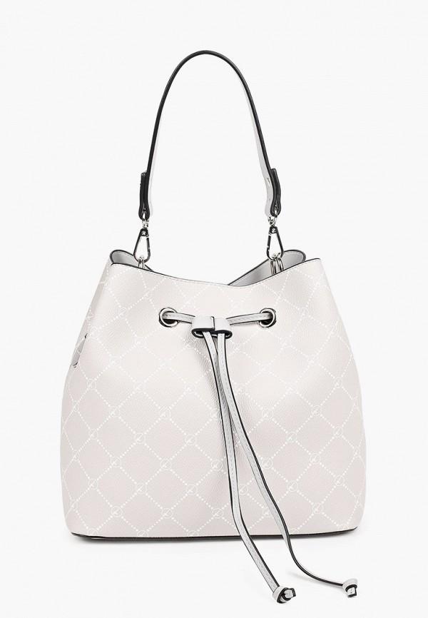 женская сумка с ручками tamaris, серая