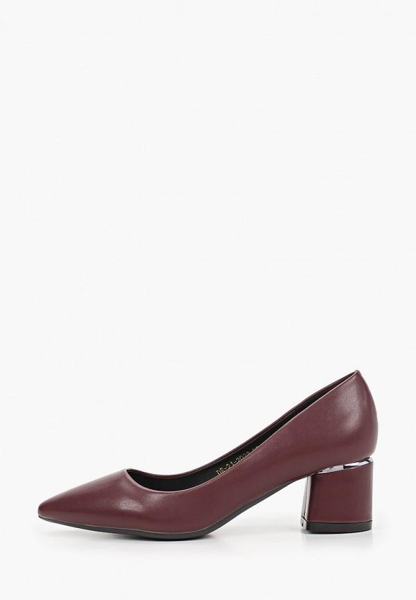 женские туфли с закрытым носом diora.rim, бордовые