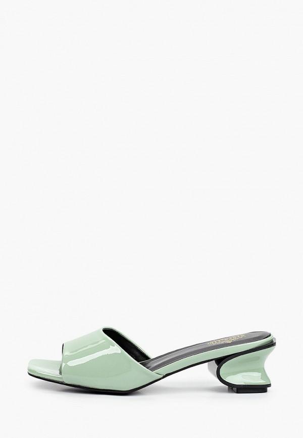 женское сабо diora.rim, зеленое