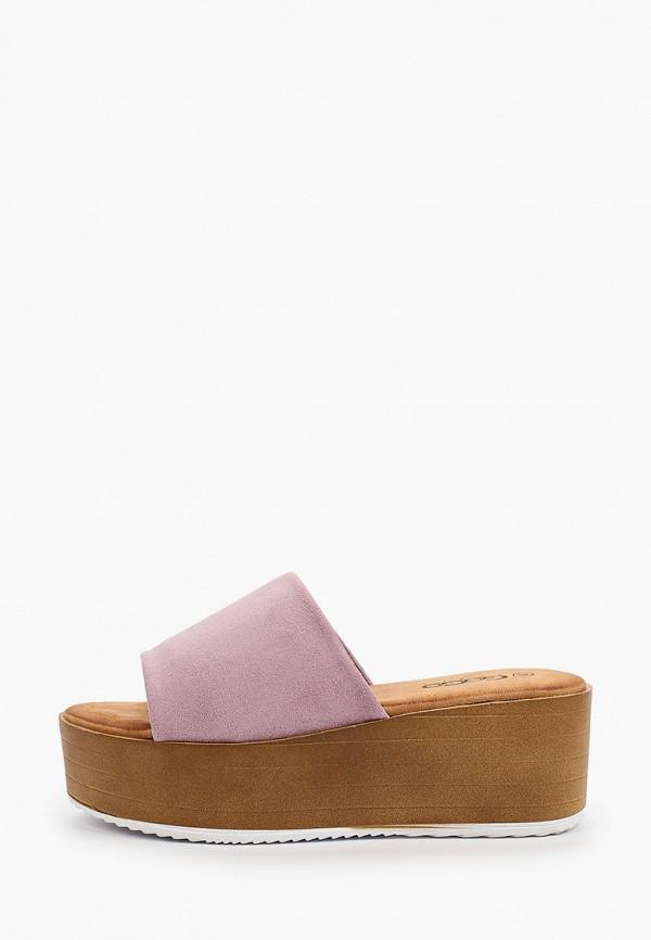 женское сабо go-go, фиолетовое