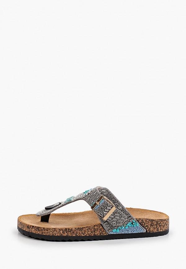 женское сабо ideal shoes, серебряное