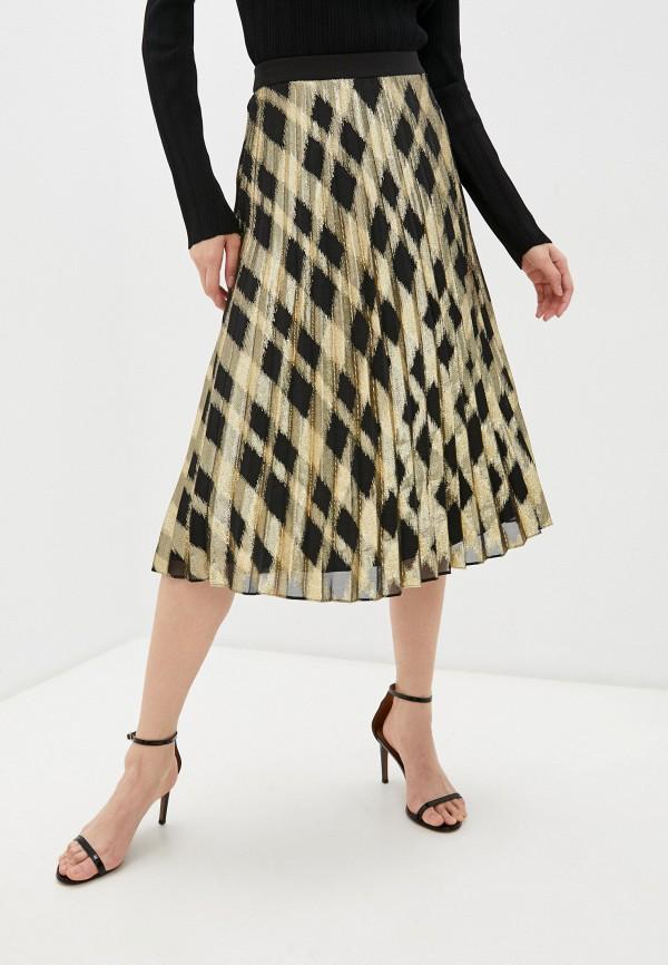 женская плиссированные юбка tara jarmon, золотая