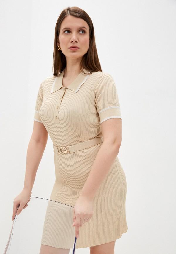 женское платье-свитеры claudie pierlot, золотое