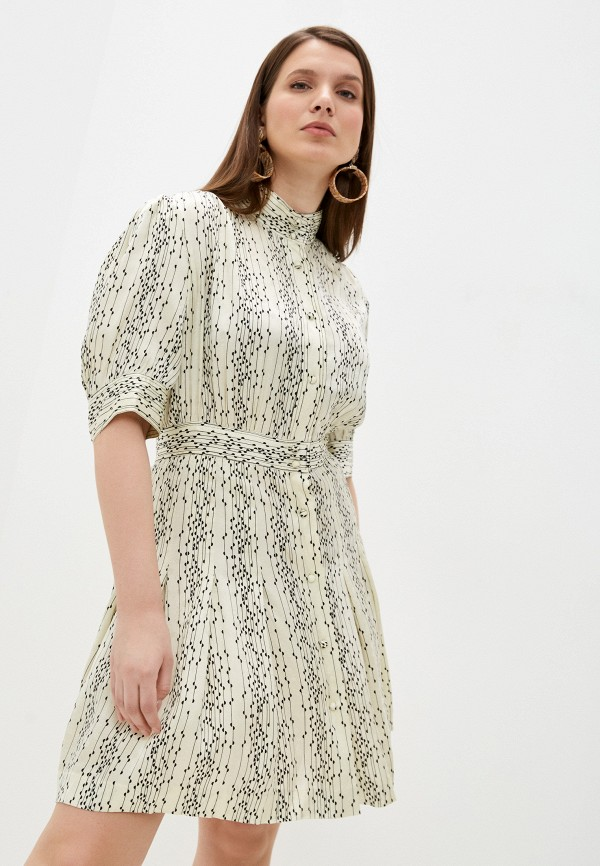 женское повседневные платье sandro, бежевое
