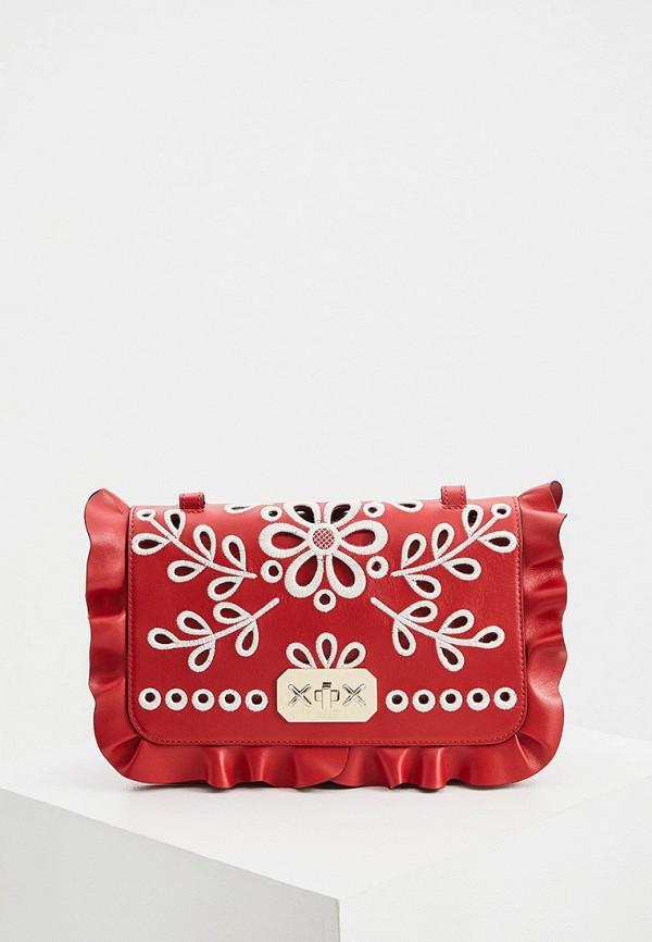 женская сумка через плечо red(v), красная