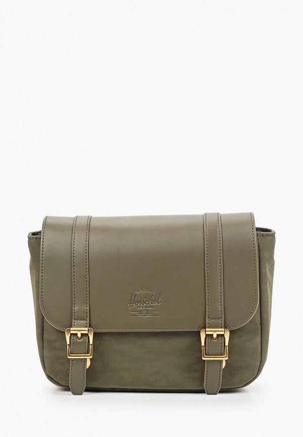 женская сумка через плечо herschel supply co, хаки