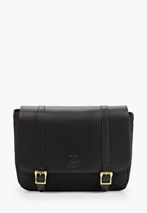 женская сумка через плечо herschel supply co, черная