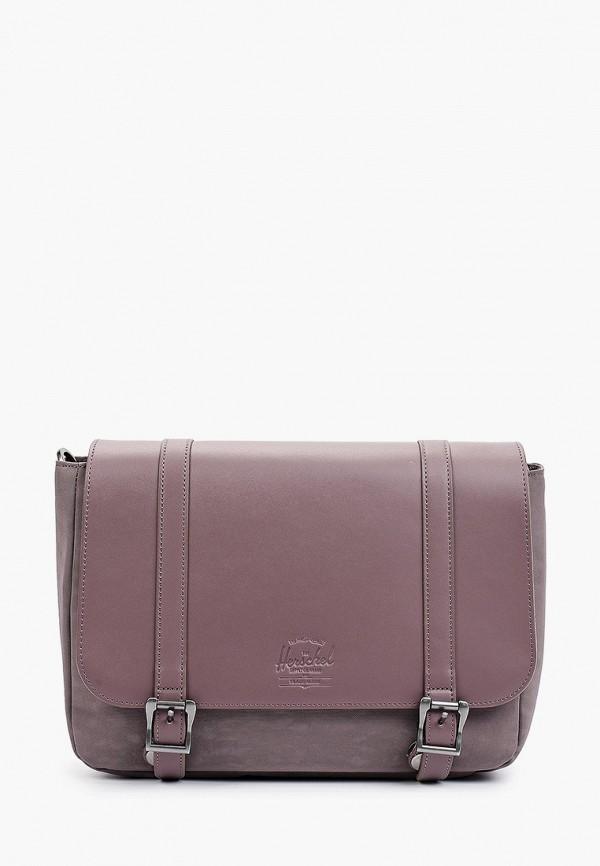 женская сумка через плечо herschel supply co, фиолетовая
