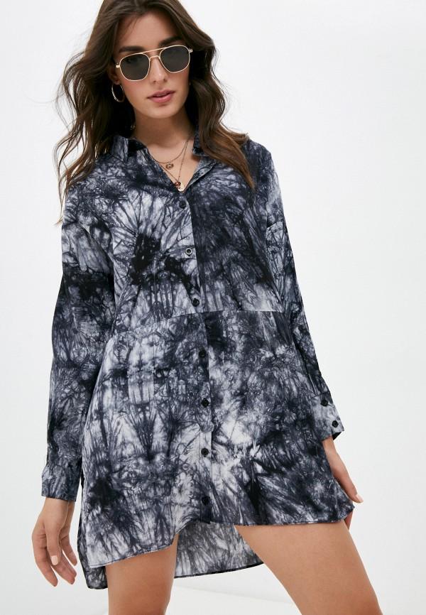 женское платье-рубашки missguided, серое
