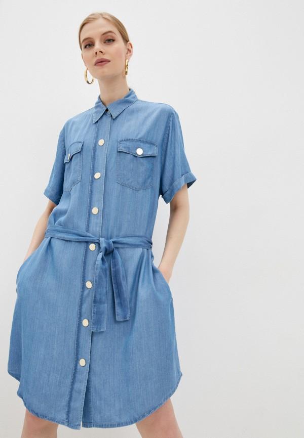 женское платье-рубашки pinko, голубое
