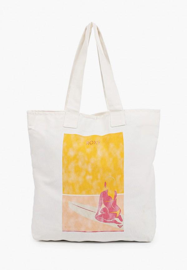 женская сумка-шоперы roxy, белая