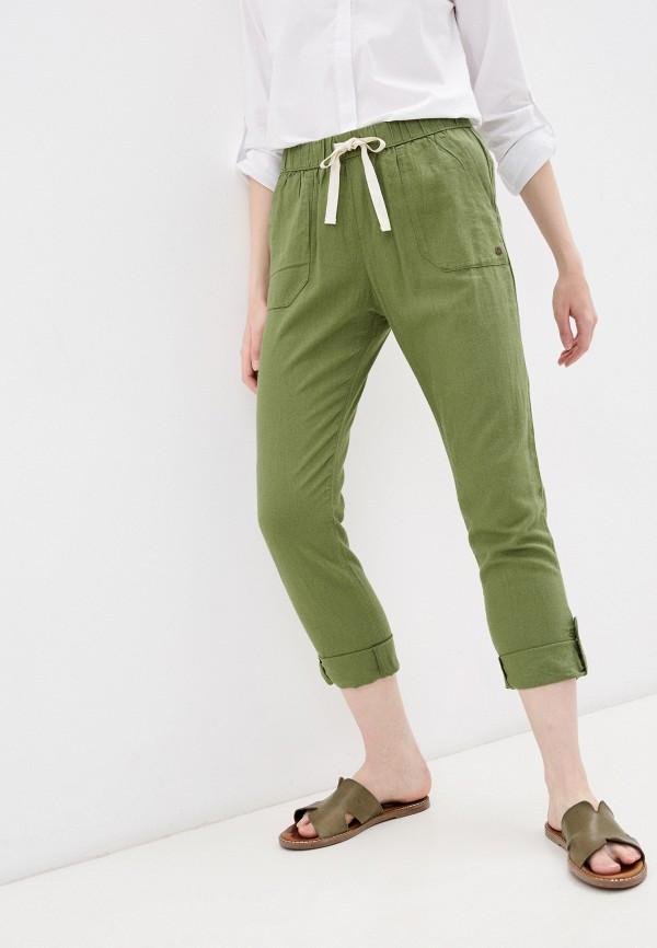 женские брюки джоггеры roxy, зеленые