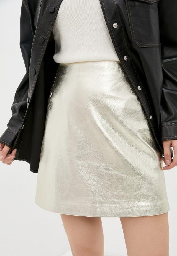 женская юбка-трапеции tara jarmon, золотая