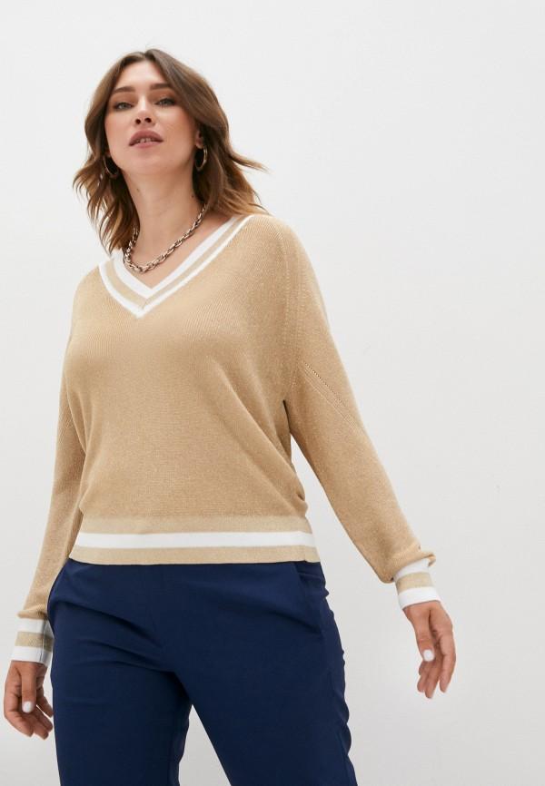 женский пуловер claudie pierlot, золотой