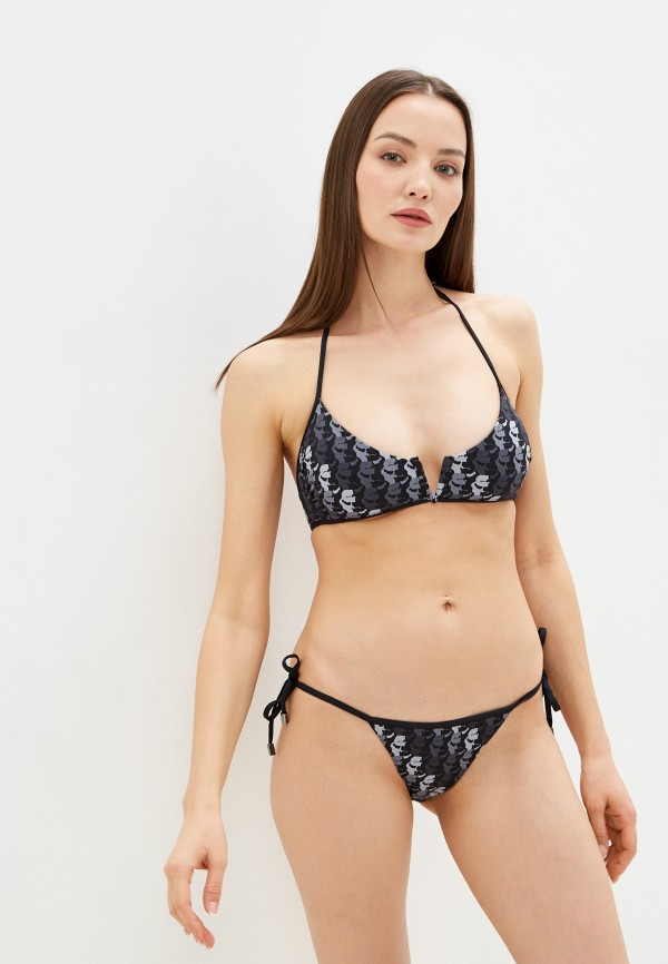 женские плавки karl lagerfeld beachwear, серые