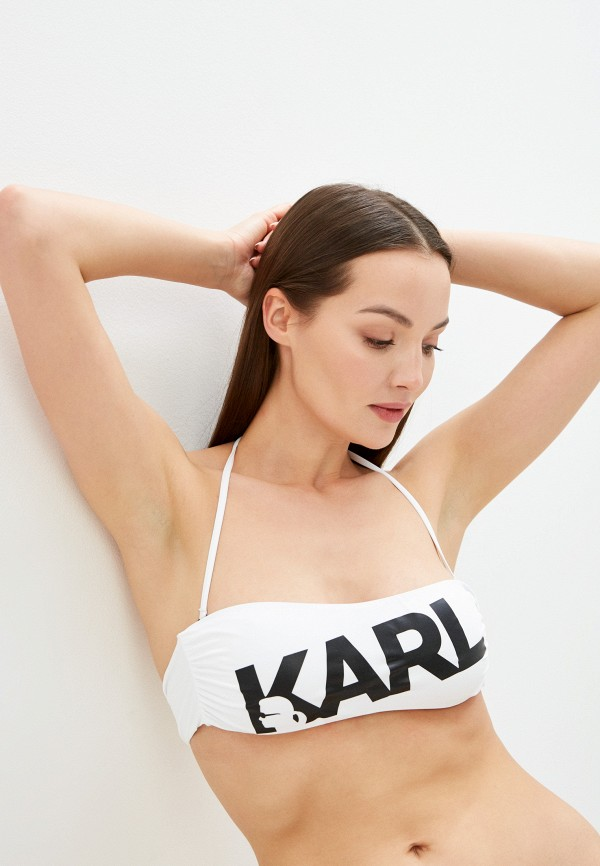 женский лиф karl lagerfeld beachwear, белый