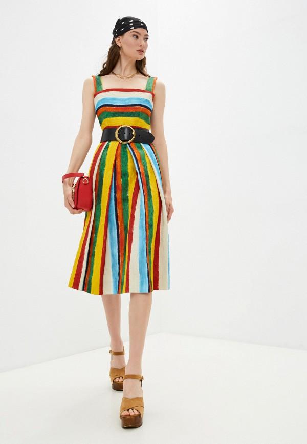 женский сарафан dolce & gabbana, разноцветный