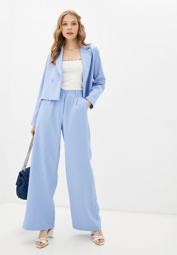 женский костюм rene santi, голубой