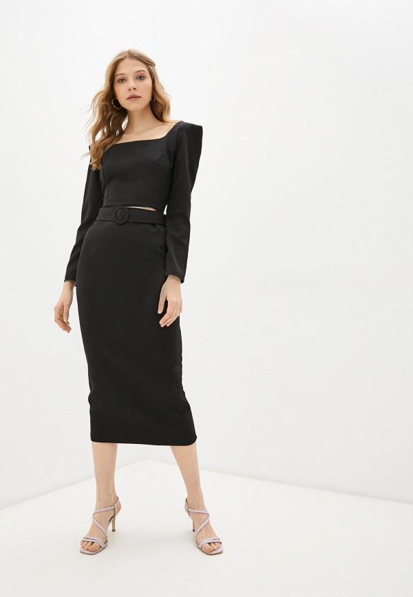 женский костюм rene santi, черный