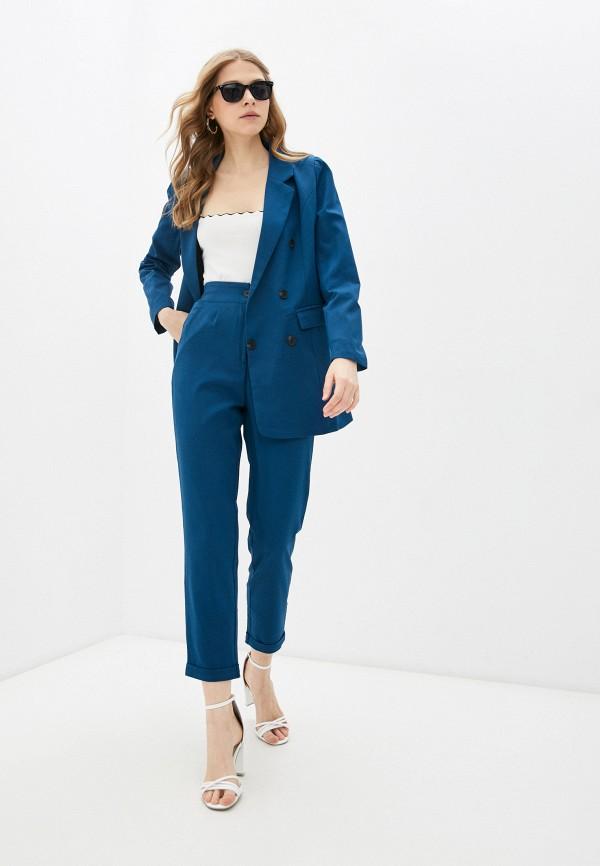 женский костюм rene santi, синий