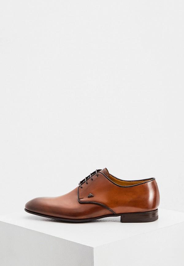 мужские туфли-дерби fabi, коричневые