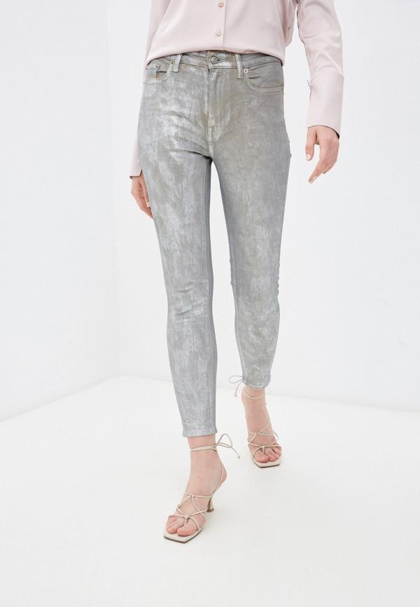 женские джинсы скинни lauren ralph lauren, серебряные