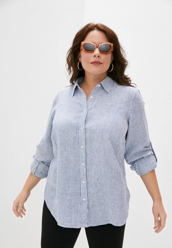 женская рубашка lauren ralph lauren woman, синяя
