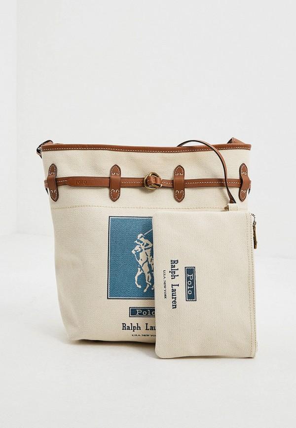 женский кошелёк-шоперы polo ralph lauren, бежевый